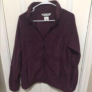 Columbia Fleece Jacket Women's Purple EUC